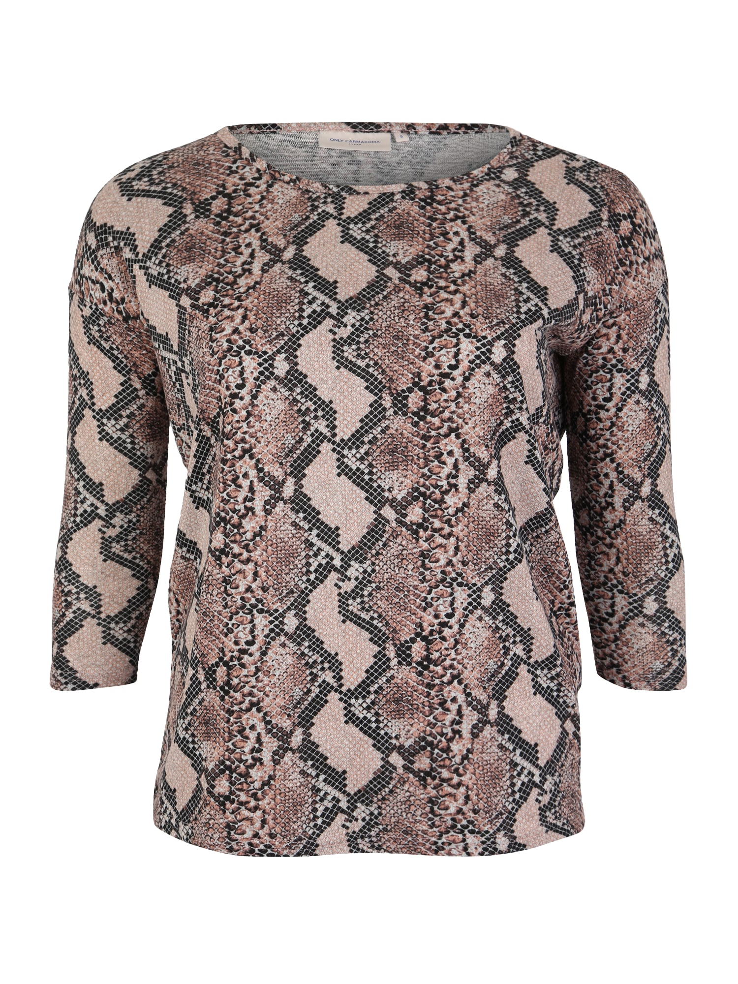 ONLY Carmakoma Marškinėliai 'ALBA' smėlio / ruda