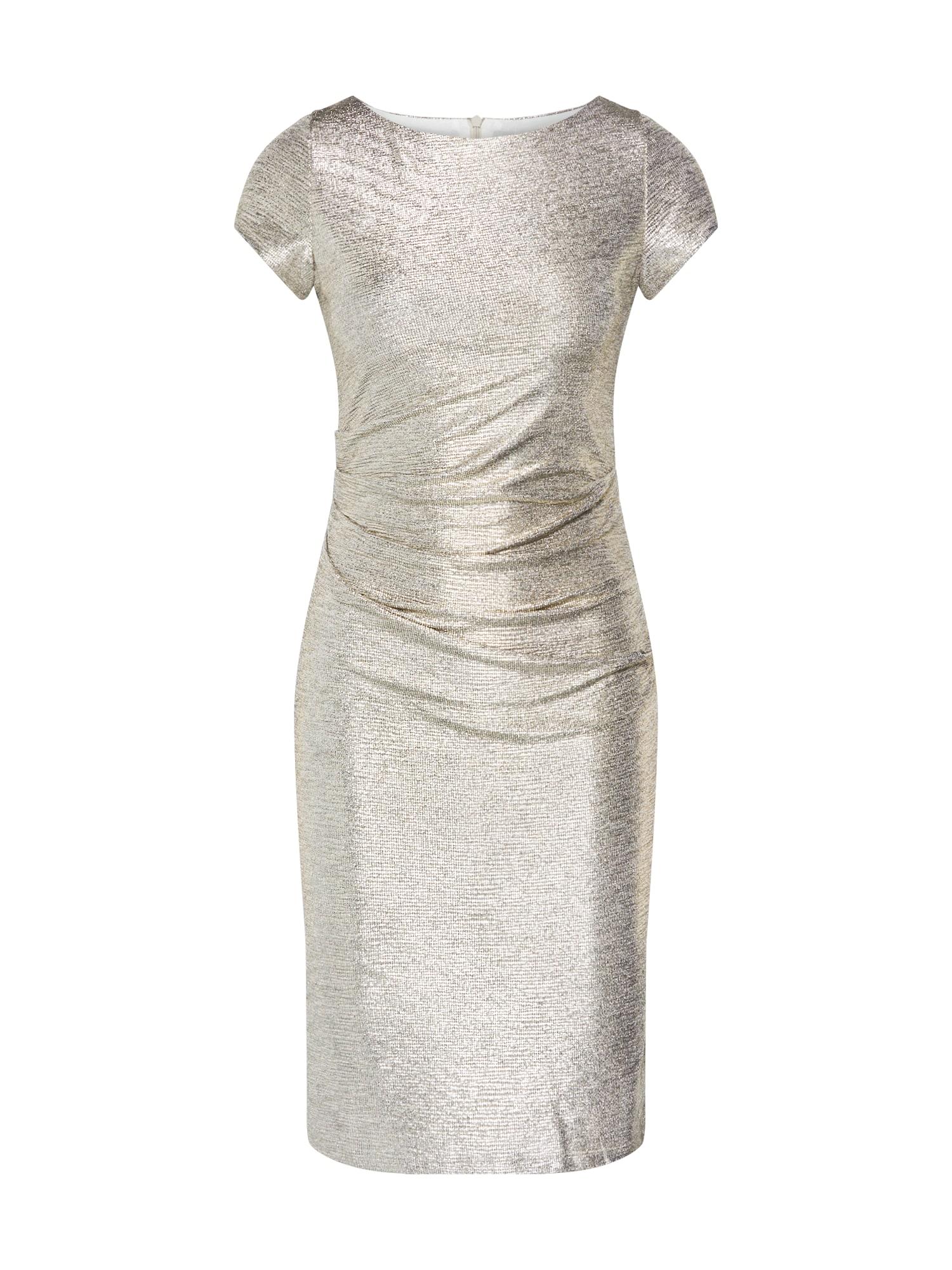 SWING Kokteilinė suknelė auksas