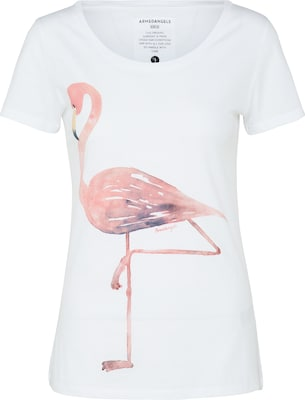 Armedangels T-Shirt 'Mari Big Flamingo'