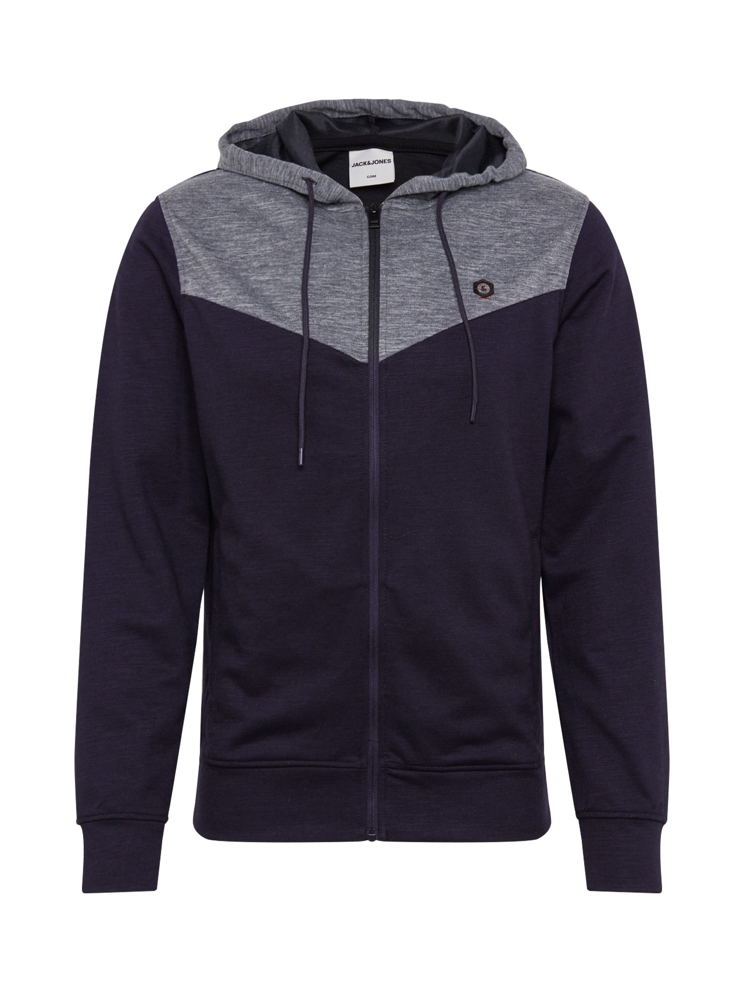 JACK & JONES Džemperis 'JCOCERVON' juoda / pilka