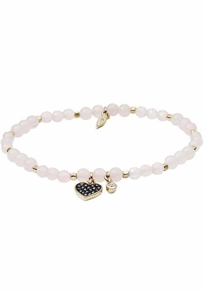 Armbaender für Frauen - FOSSIL Armband 'Herz, VINTAGE MOTIFS, JA6922710' gold schwarz perlweiß  - Onlineshop ABOUT YOU