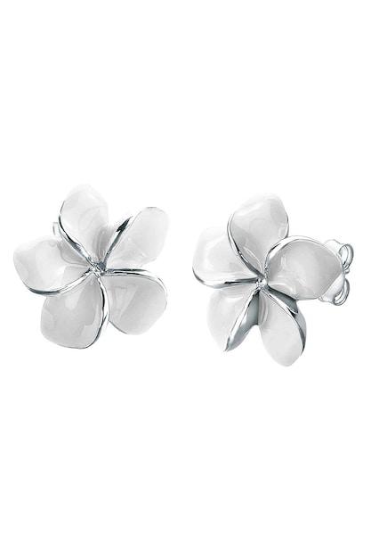 Ohrringe für Frauen - Ohrringe 'Frangipani Blüte' Natur › ELLI › silber  - Onlineshop ABOUT YOU
