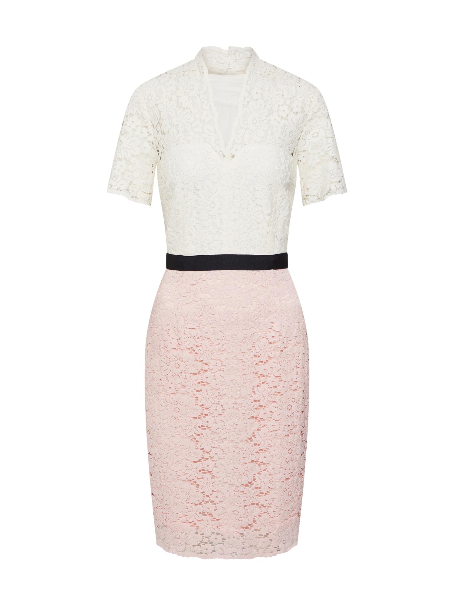 Šaty růžová černá bílá SET