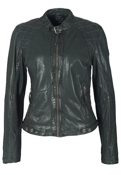 Jacken für Frauen - Gipsy Lederjacke 'ROXIE LVTW' grün  - Onlineshop ABOUT YOU