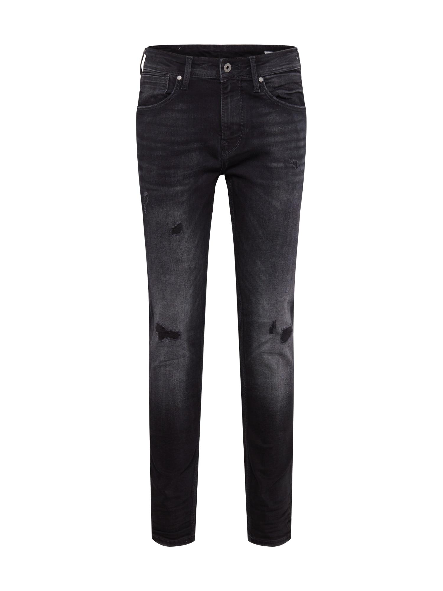 Pepe Jeans Džinsai 'Nickel' juodo džinso spalva