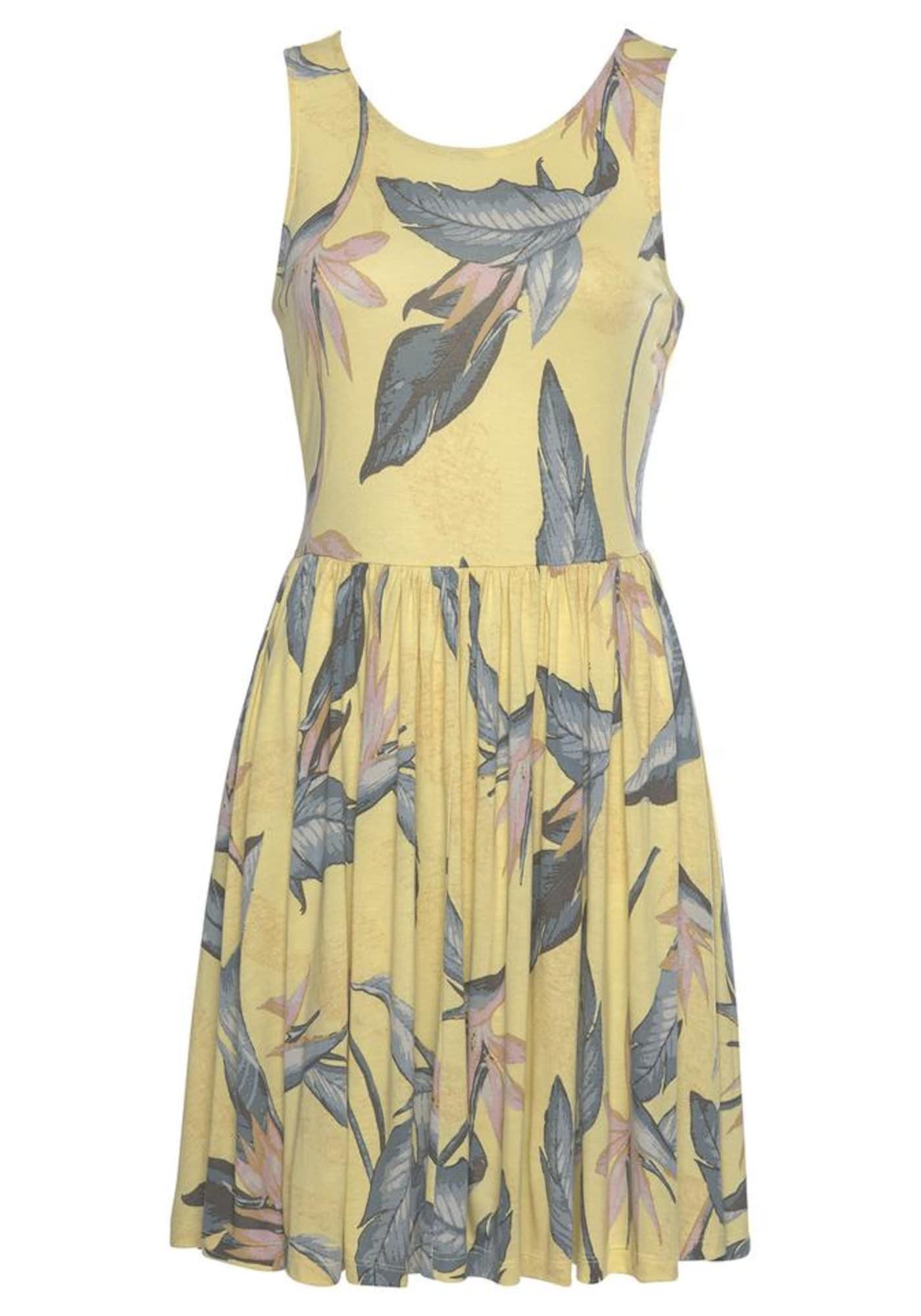 BEACH TIME Vasarinė suknelė pastelinė rožinė / citrinos spalva / dūmų pilka / pastelinė oranžinė