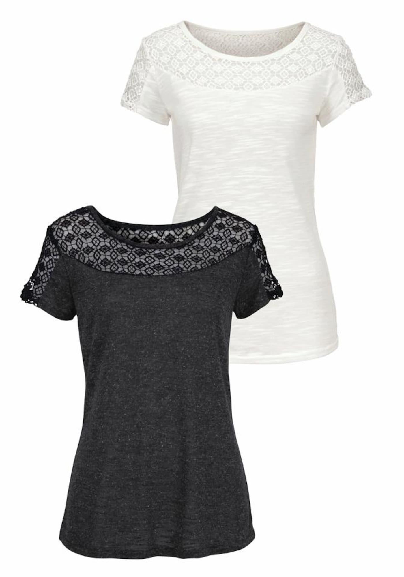 VIVANCE Marškinėliai antracito / balta