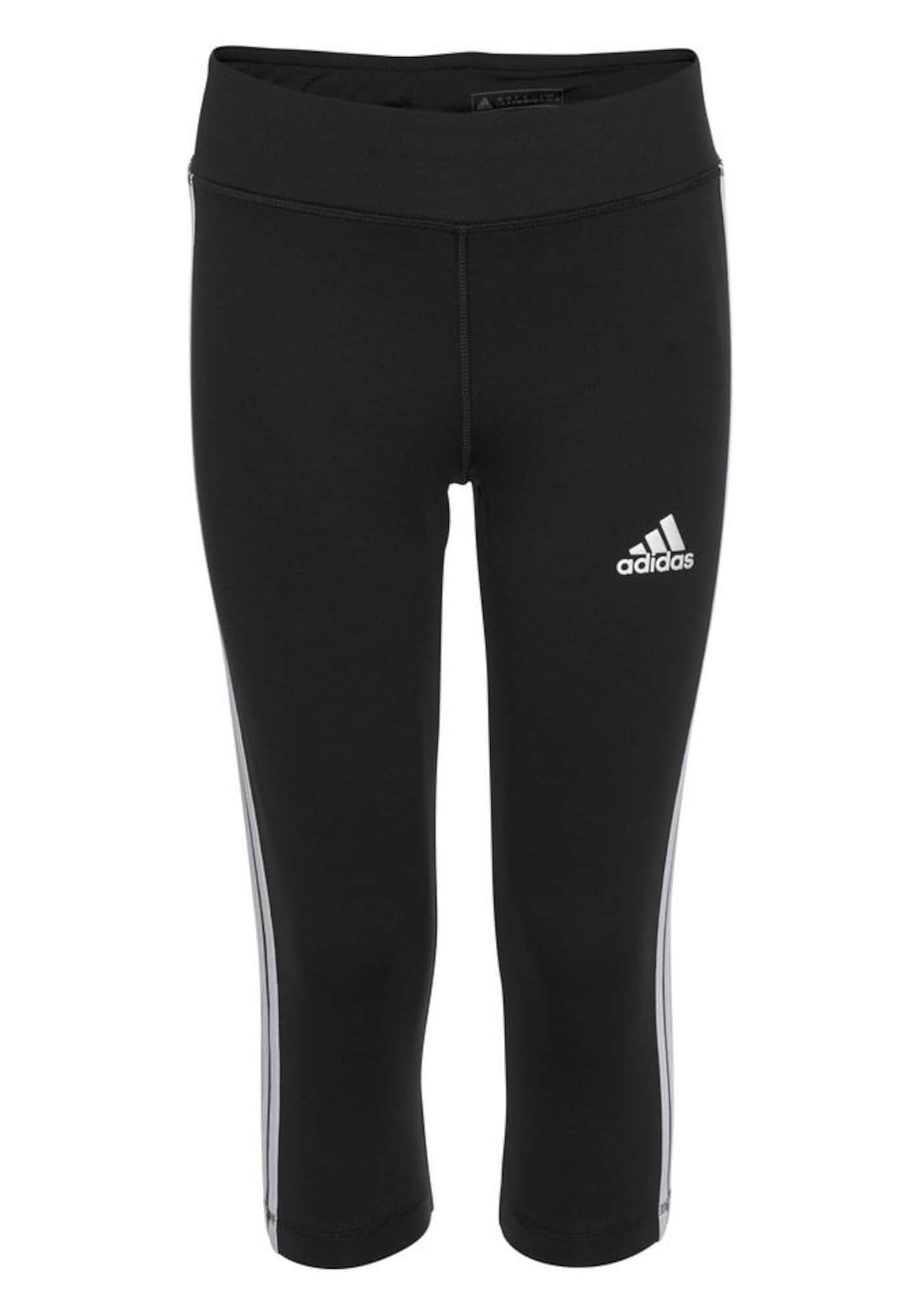 ADIDAS PERFORMANCE Sportinės kelnės balta / juoda
