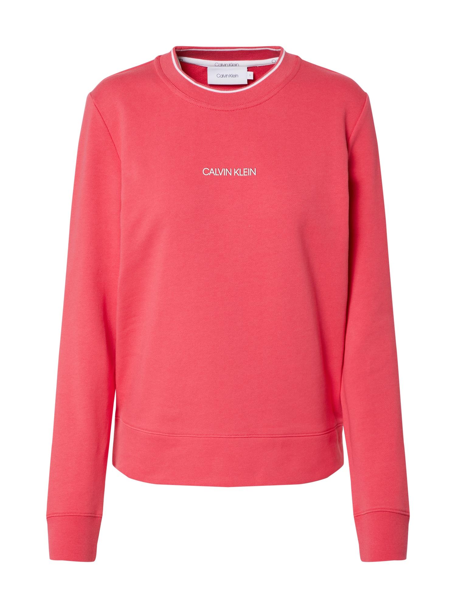 Calvin Klein Megztinis be užsegimo balta / rožinė
