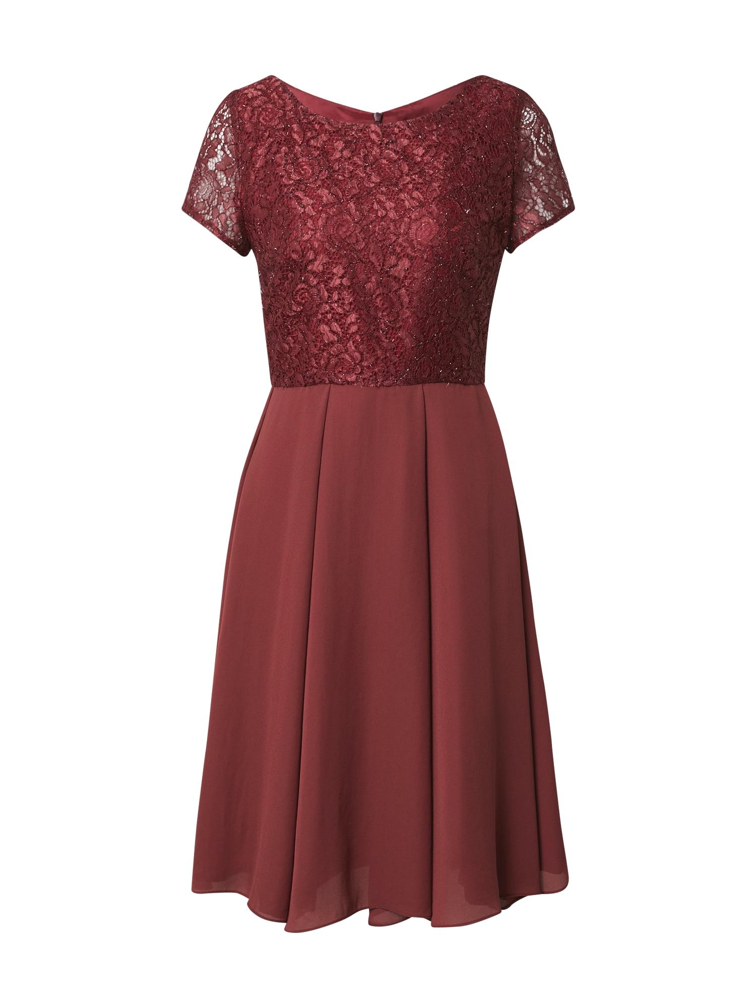 SWING Kokteilinė suknelė kraujo spalva