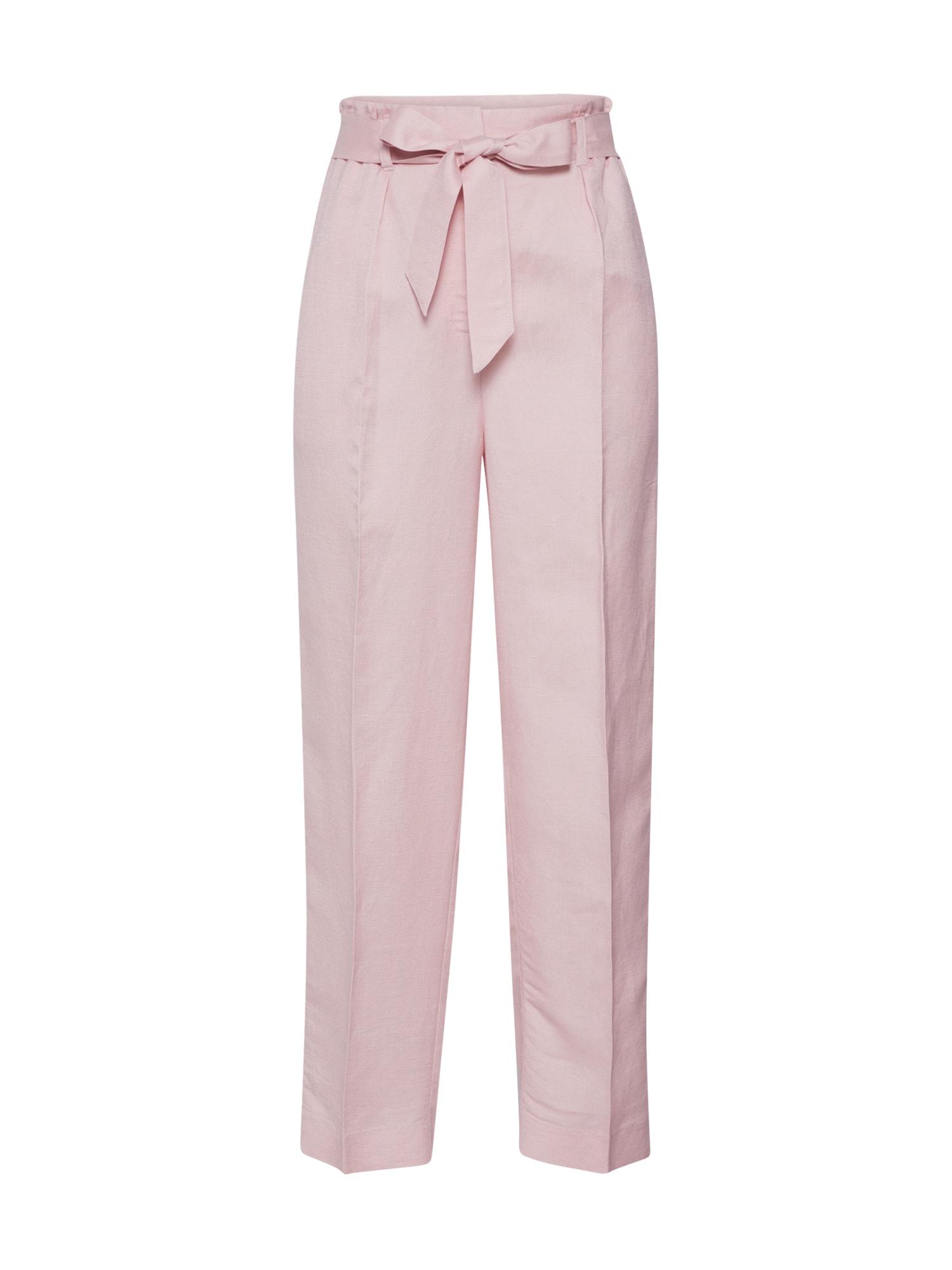 EDITED Kelnės su kantu 'Elita' rožių spalva / rožinė