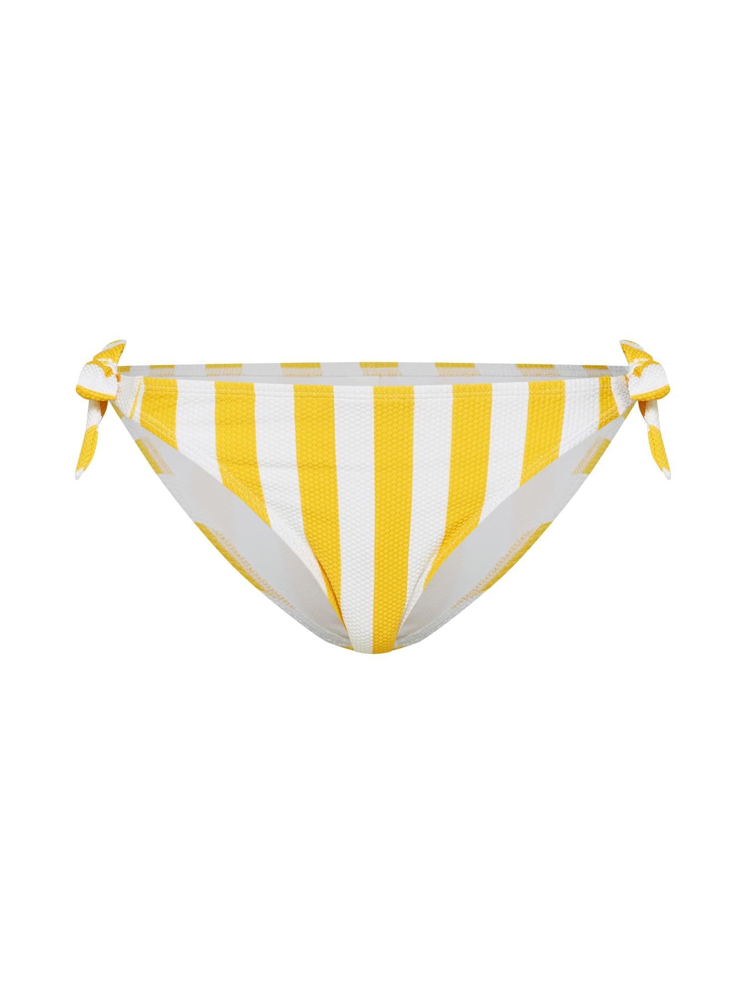 Spodní díl plavek Giorgio žlutá bílá Hunkemöller