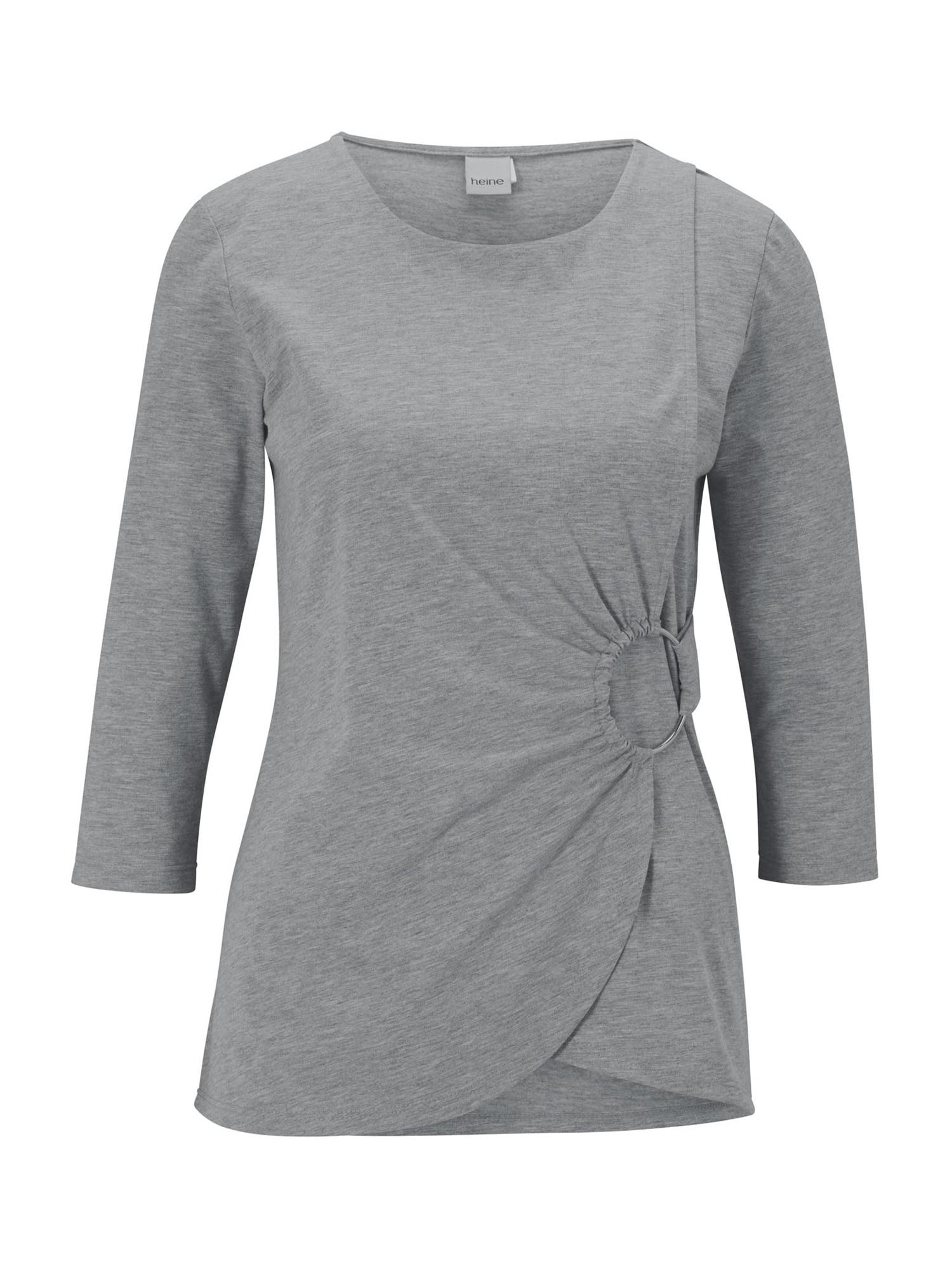 heine Tričko  sivá melírovaná