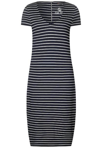 Kleider für Frauen - STREET ONE Sweatkleid marine weiß  - Onlineshop ABOUT YOU