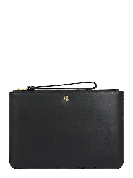 Clutches für Frauen - Lauren Ralph Lauren Clutch 'POUCH WRISTLET LARGE' gold schwarz  - Onlineshop ABOUT YOU