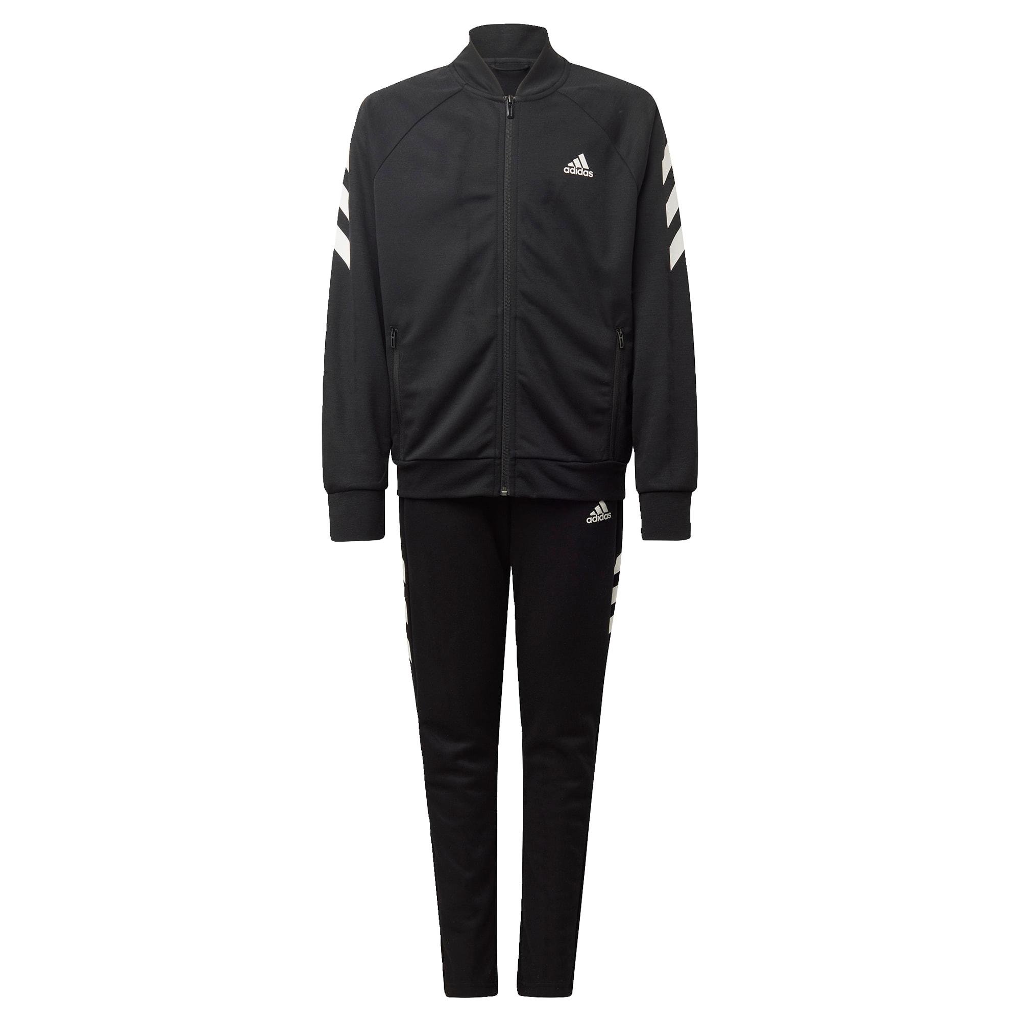ADIDAS PERFORMANCE Treniruočių kostiumas juoda / balta