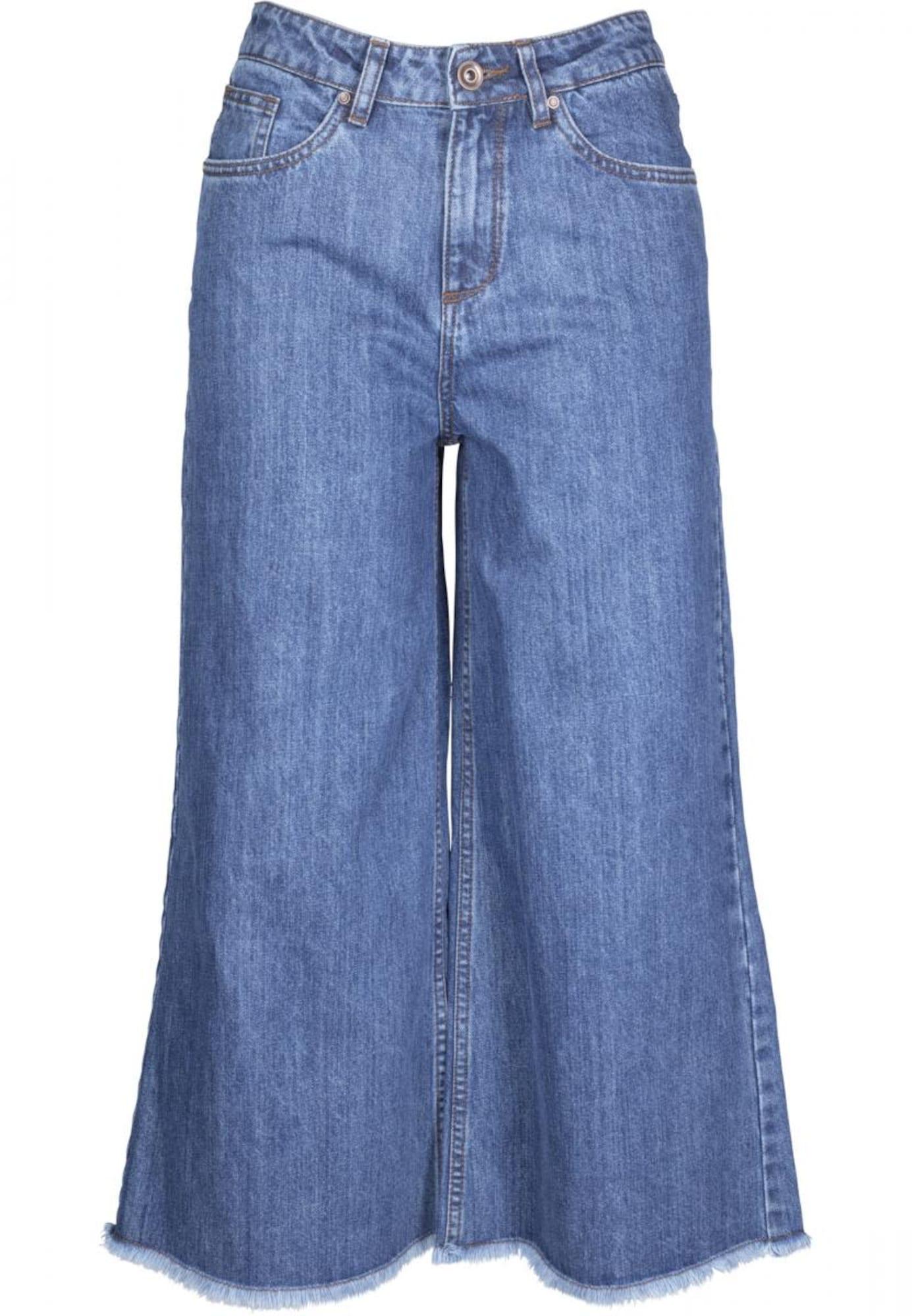 Urban Classics Džinsai 'Culotte' tamsiai (džinso) mėlyna