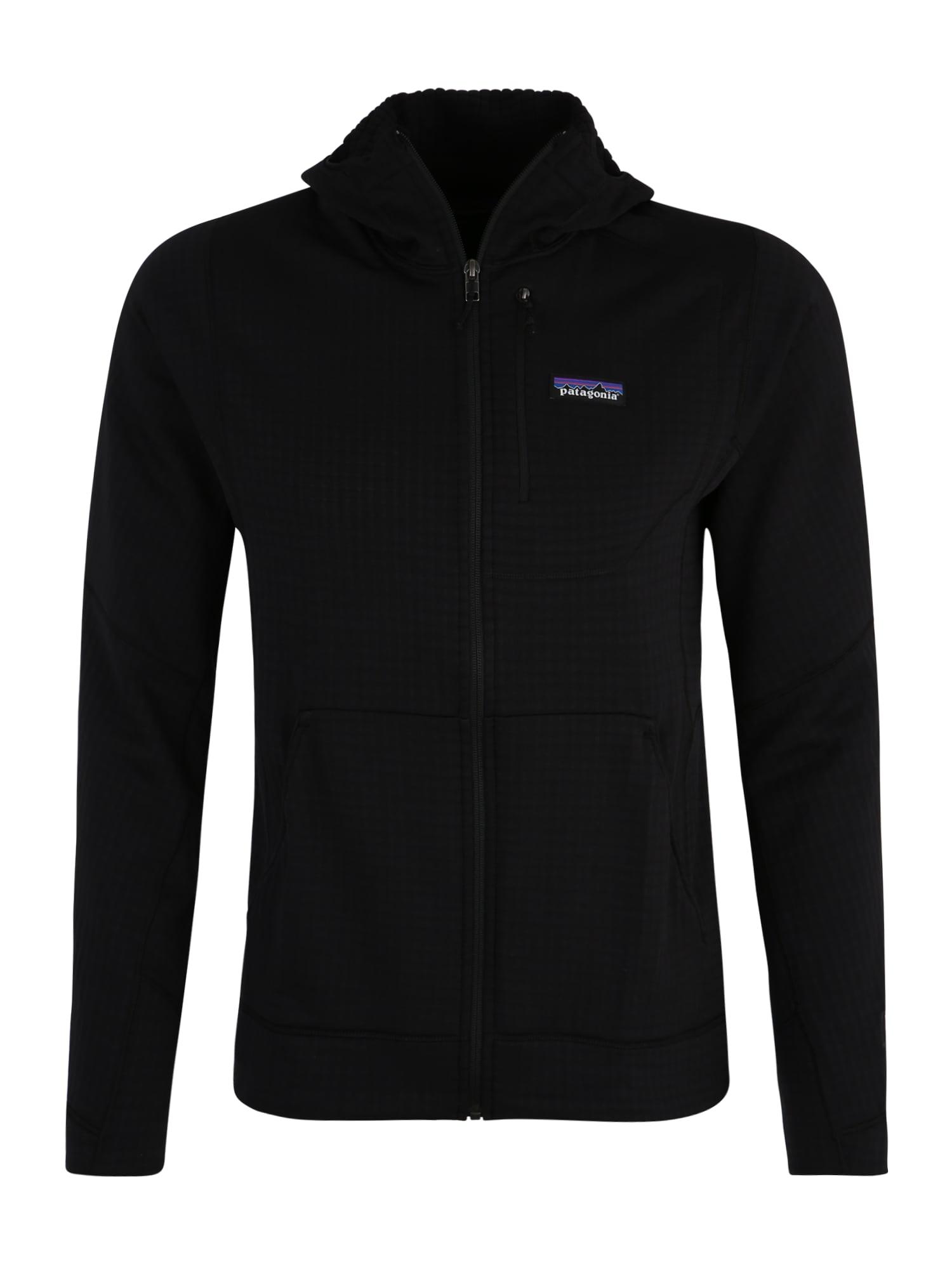 Sportovní bunda Ms R1 Full-Zip Hoody černá PATAGONIA