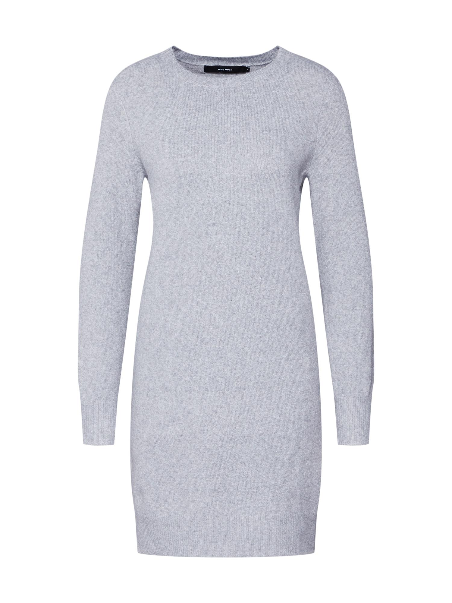 VERO MODA Megzta suknelė 'DOFFY' šviesiai pilka