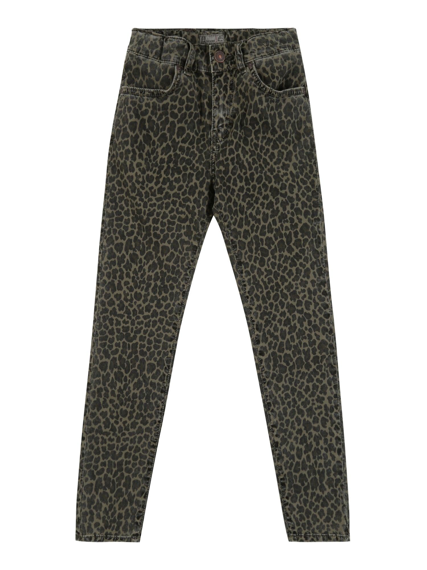 LTB Džinsai 'LONIA G' juodo džinso spalva / žalia