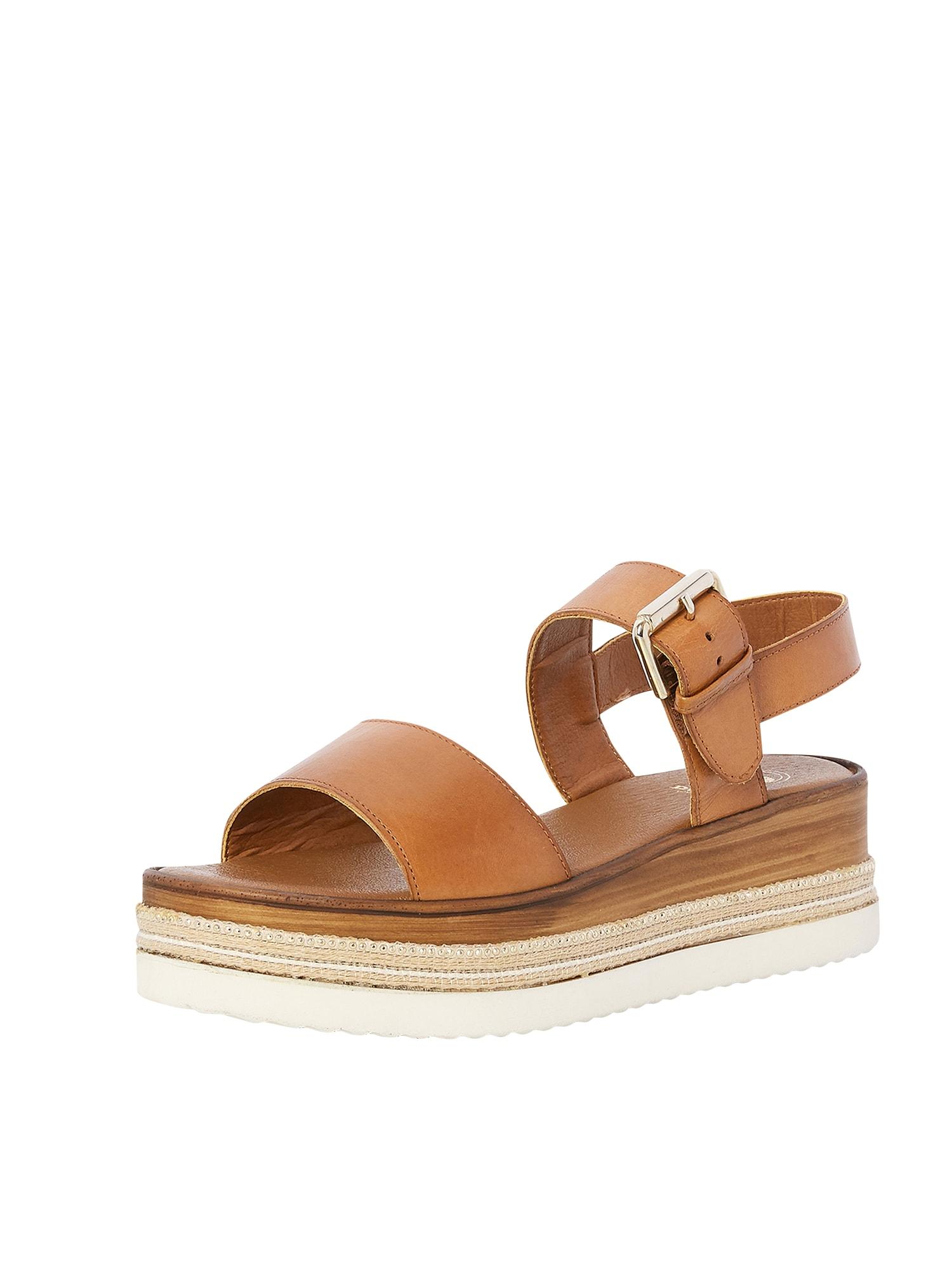 Páskové sandály KAZE koňaková Dune LONDON