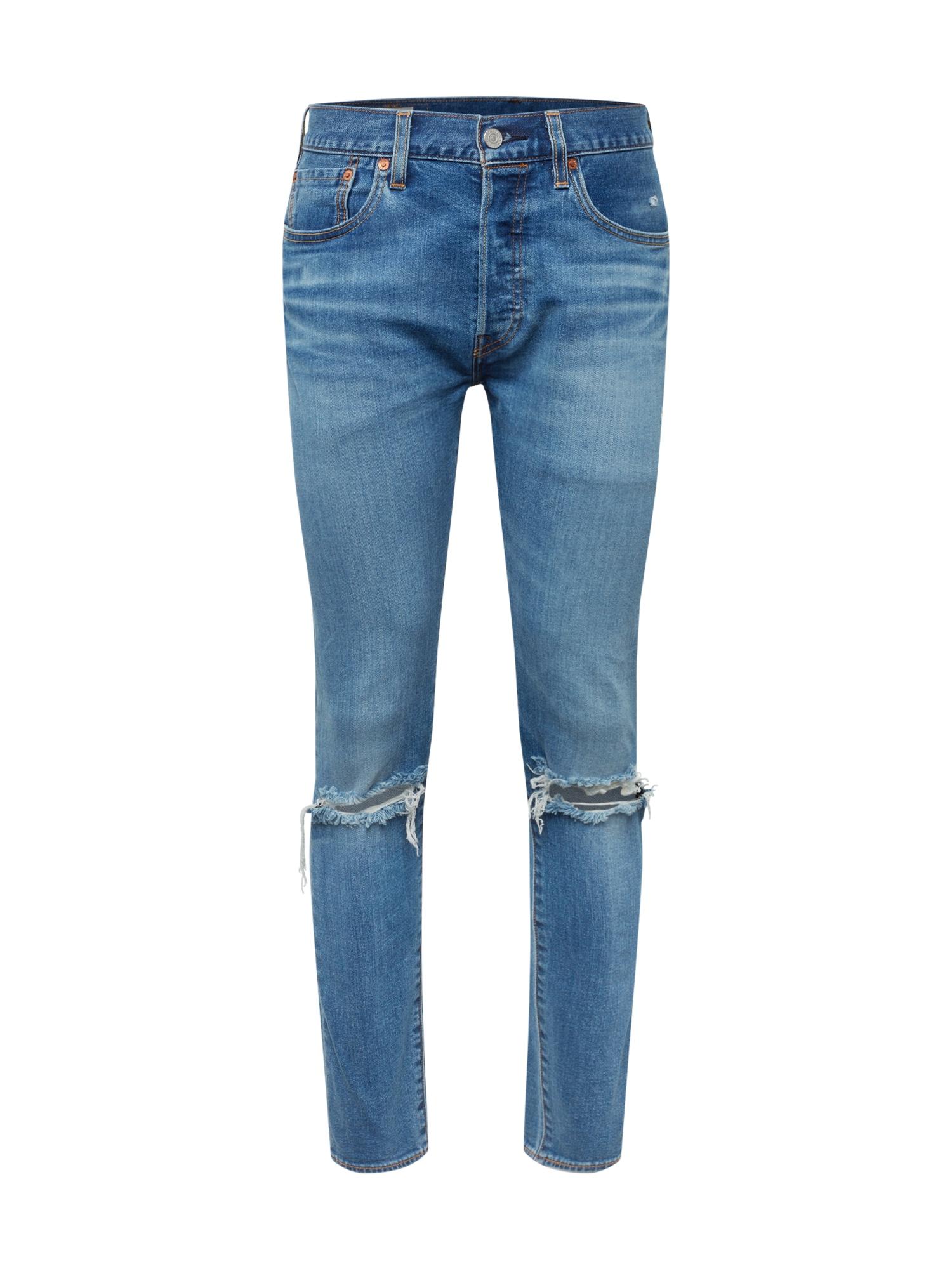 LEVI'S Džinsai '501SLIMTAPER' tamsiai (džinso) mėlyna
