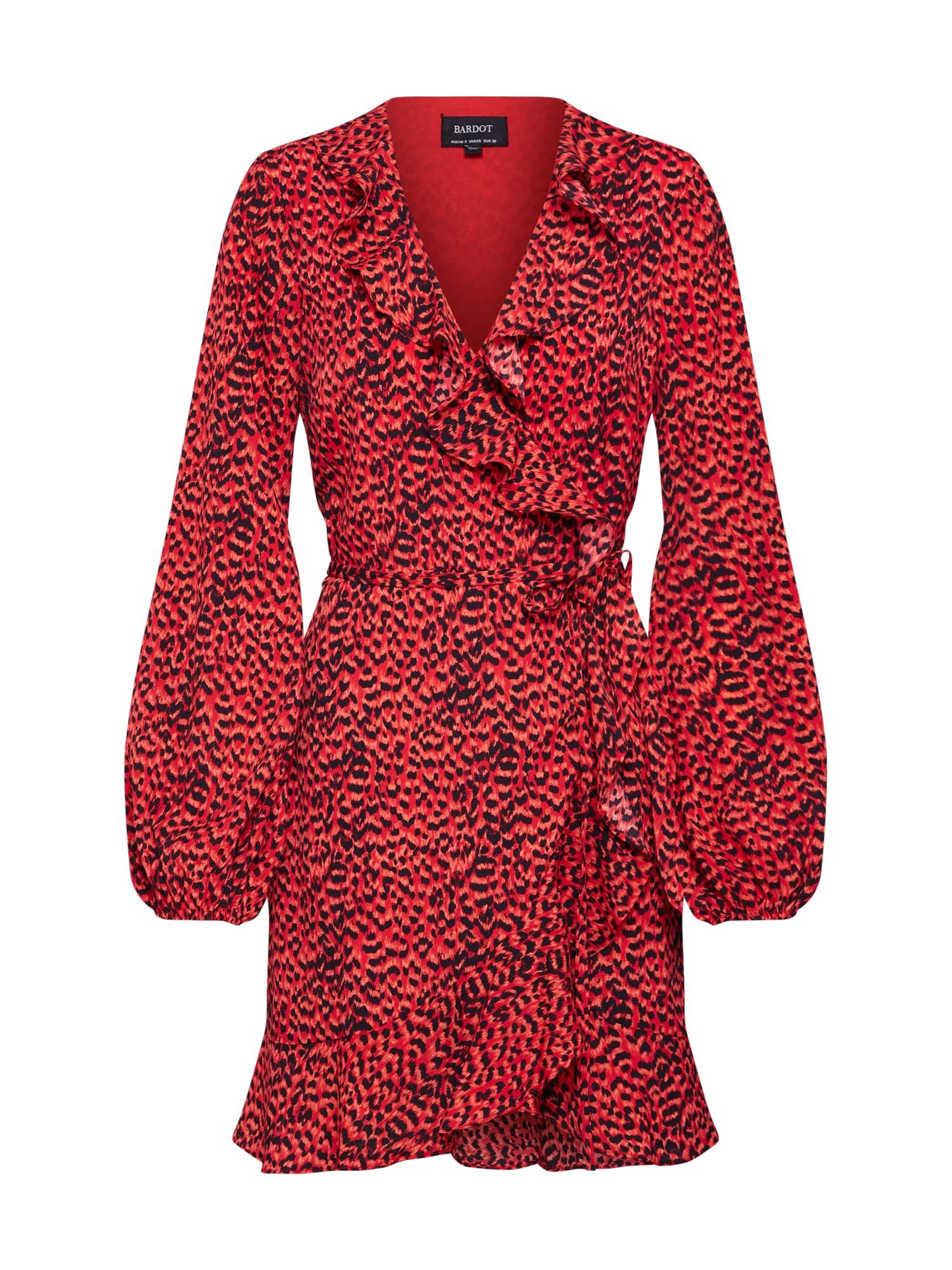 Bardot Kokteilinė suknelė 'Nora' raudona