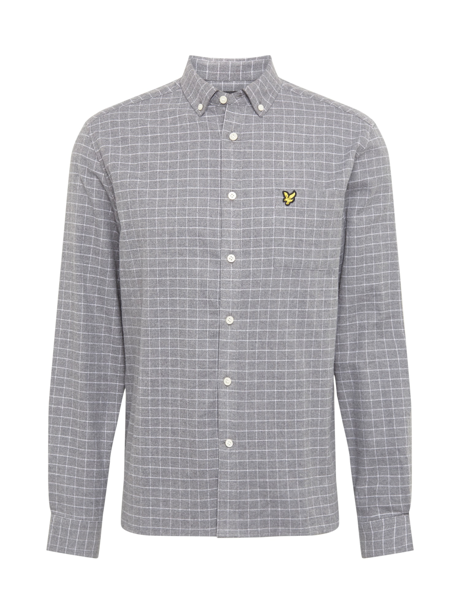 Lyle & Scott Marškiniai margai pilka / balta / geltona / juoda
