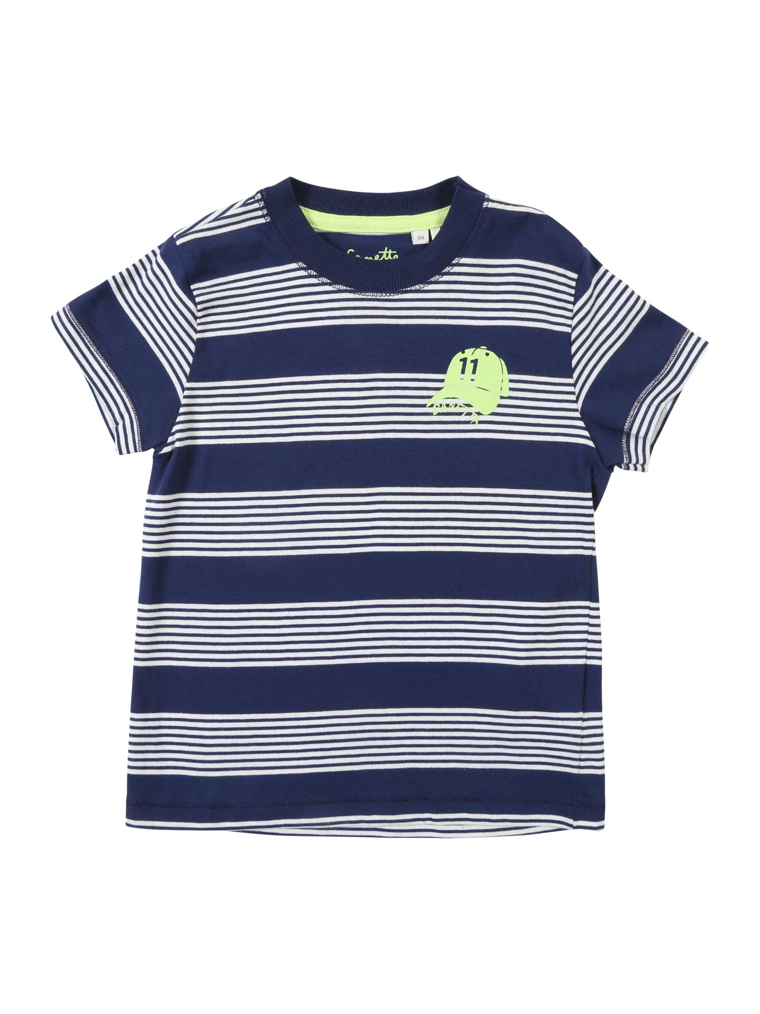 Tričko modrá bílá Sanetta Kidswear