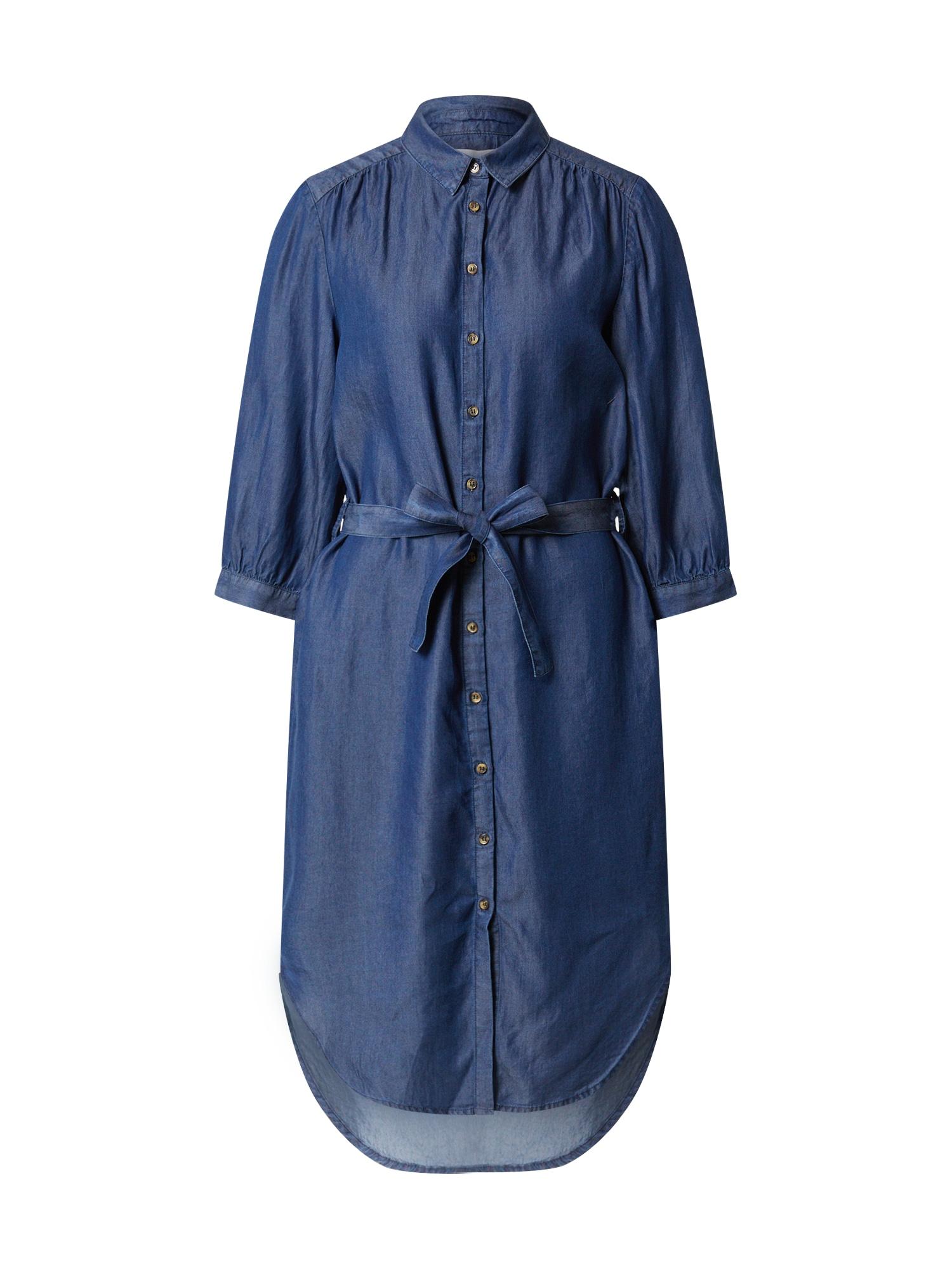 Soft Rebels Košeľové šaty  modrá denim
