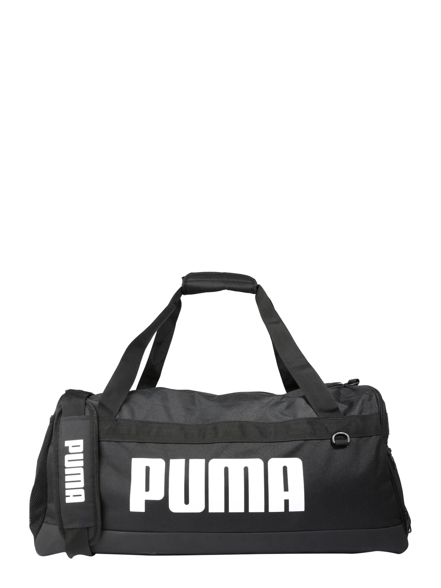PUMA Sportinis krepšys 'Challenger' balta / juoda