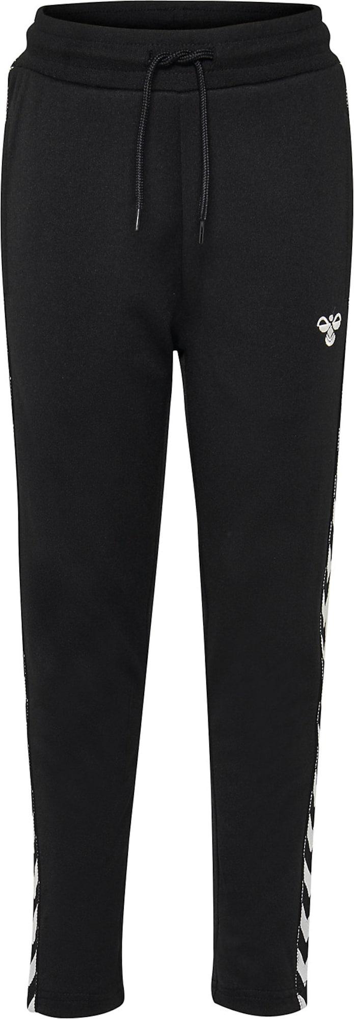 Hummel Sportinės kelnės balta / juoda