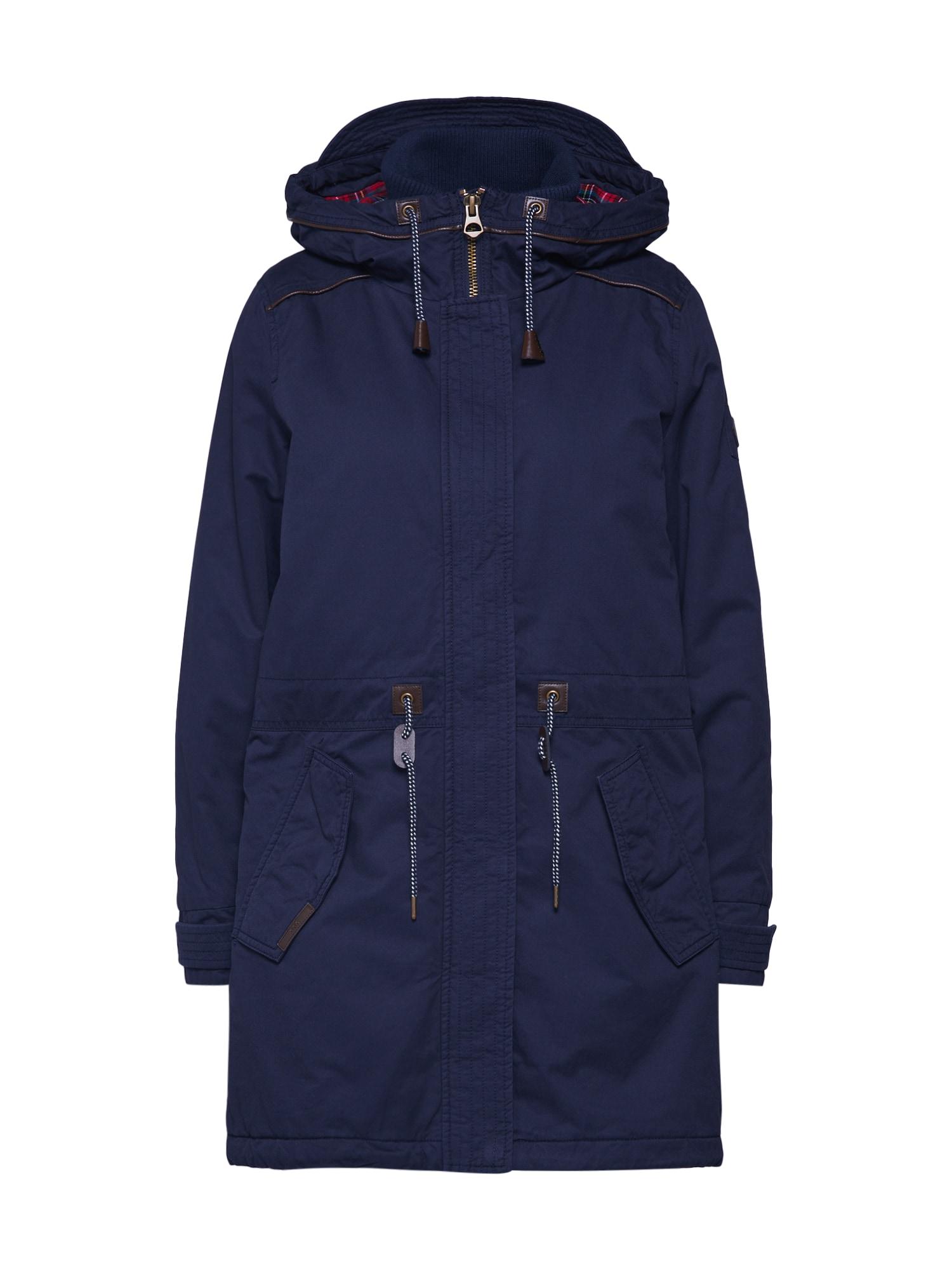 EDC BY ESPRIT Žieminis paltas 'Padded' tamsiai mėlyna