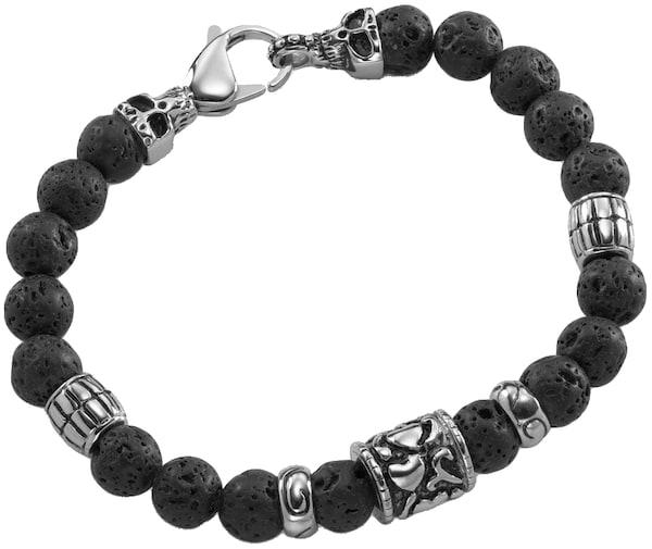 Armbaender - Armband mit Lavasteinen › FIRETTI › schwarz silber  - Onlineshop ABOUT YOU