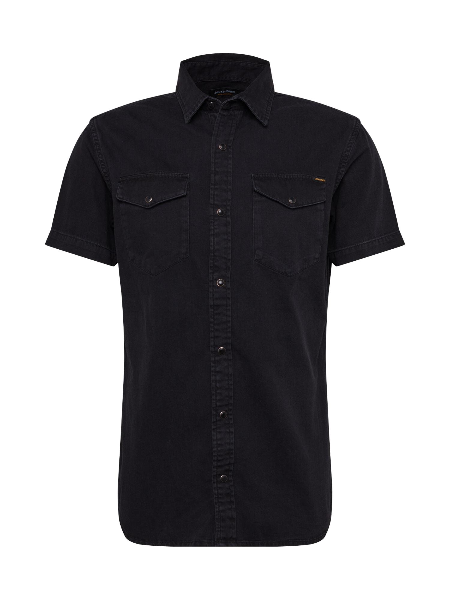 JACK & JONES Marškiniai juodo džinso spalva