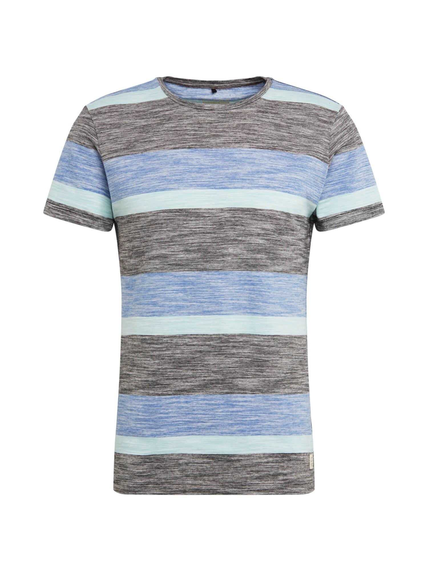 BLEND Marškinėliai 'Tee' mėlyna / mišrios spalvos