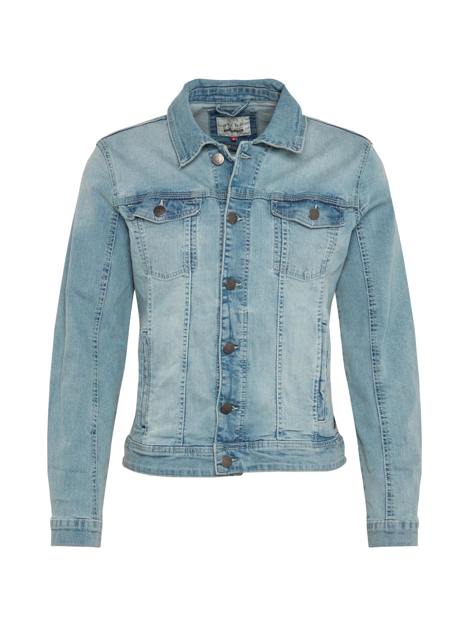 BLEND Demisezoninė striukė 'Outerwear' tamsiai (džinso) mėlyna