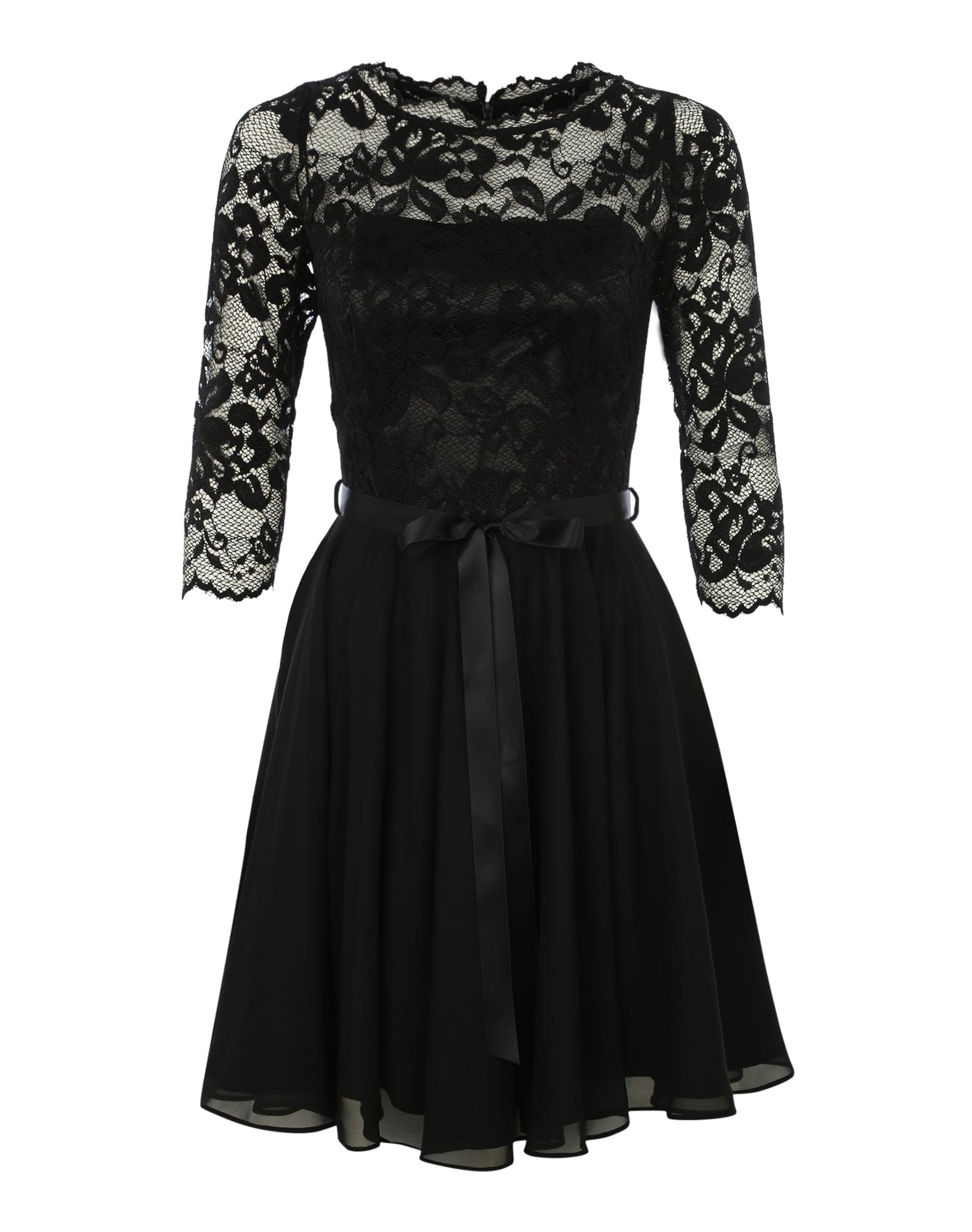 SWING Kokteilinė suknelė juoda