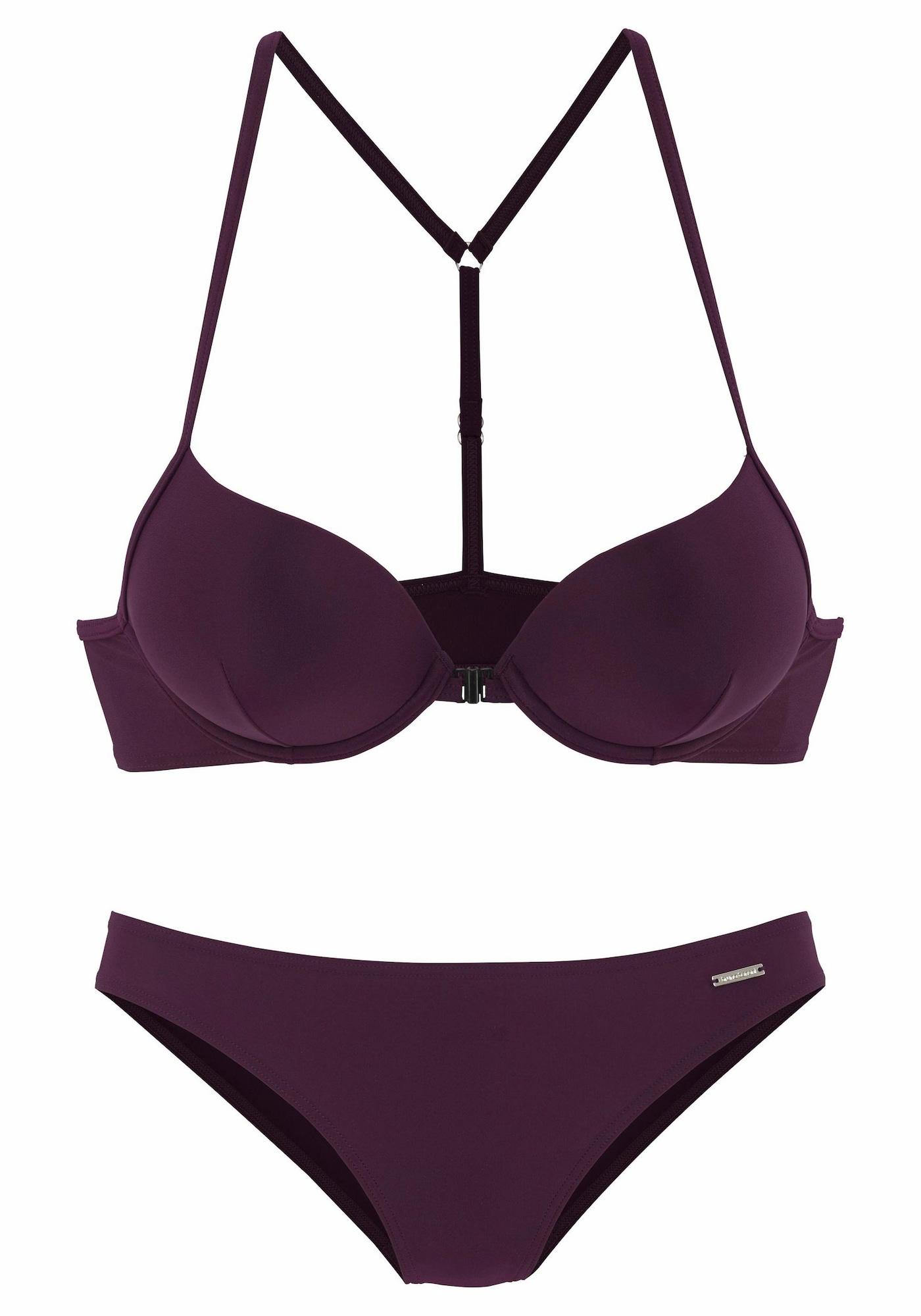 BRUNO BANANI Bikinis uogų spalva