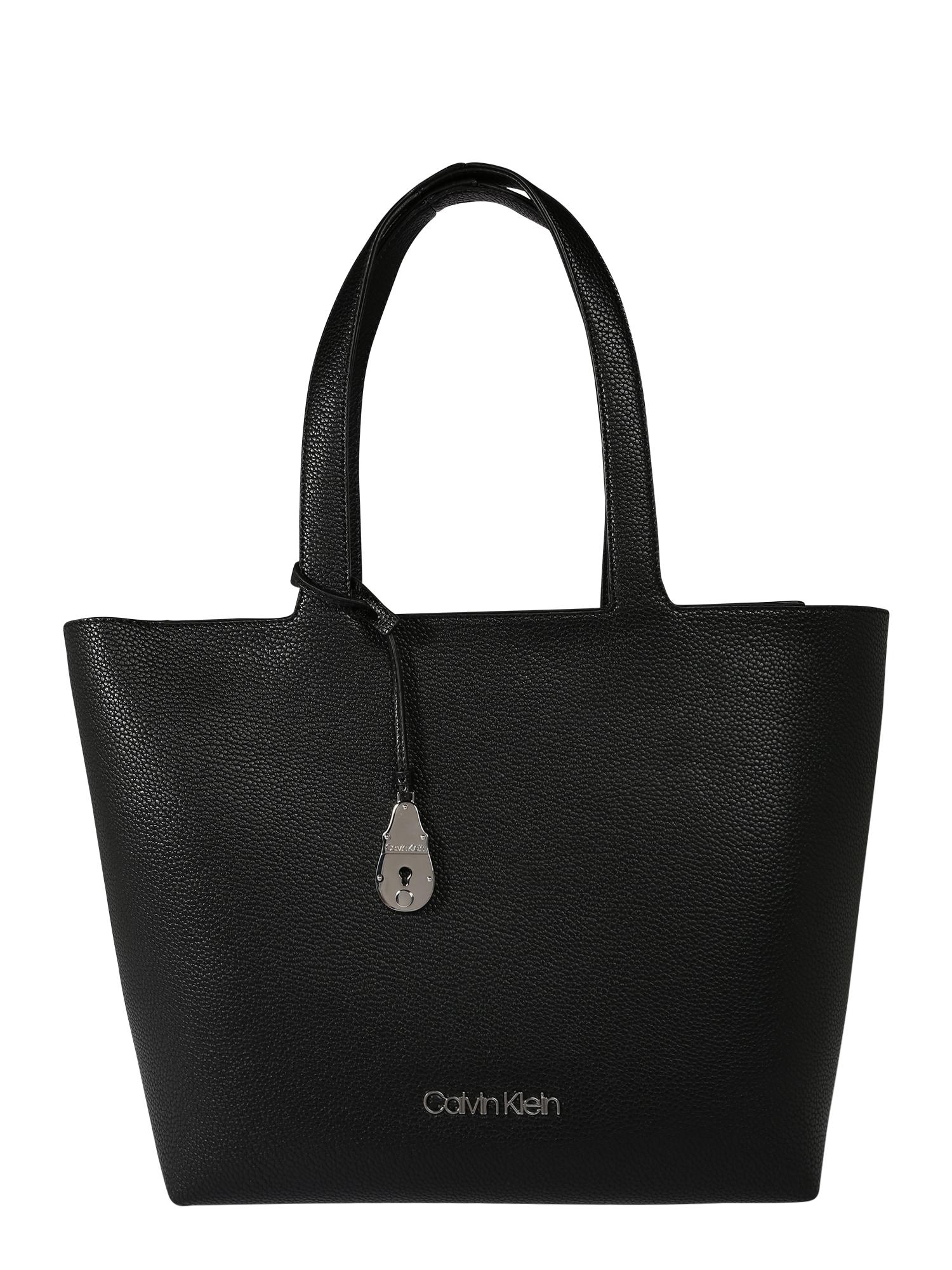 Calvin Klein Pirkinių krepšys 'NEAT' juoda