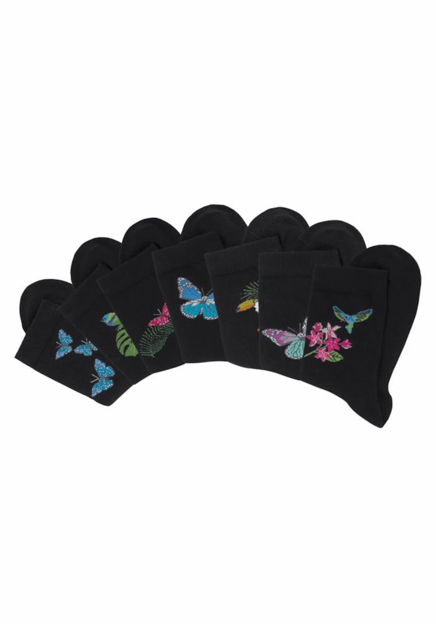H.I.S Ponožky  mix barev / černá