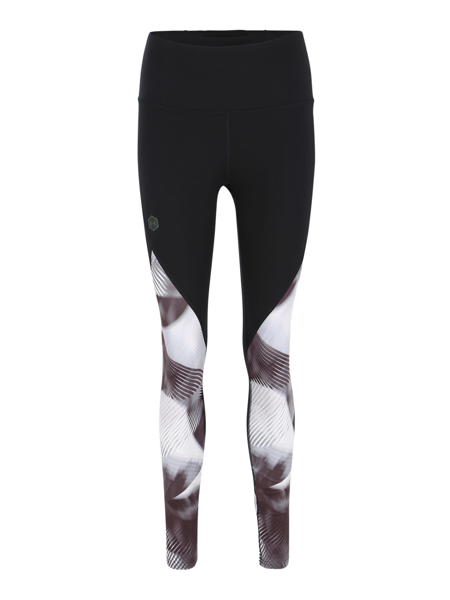 UNDER ARMOUR Sportovní kalhoty  černá / světle šedá