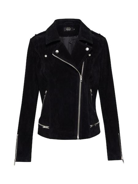 Jacken für Frauen - Lederjacke 'LUX SUEDE' › ONLY › schwarz  - Onlineshop ABOUT YOU
