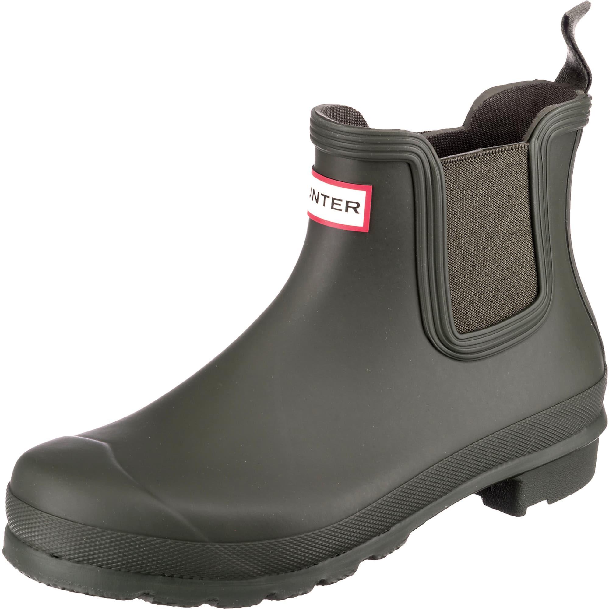HUNTER Guminiai batai tamsiai žalia