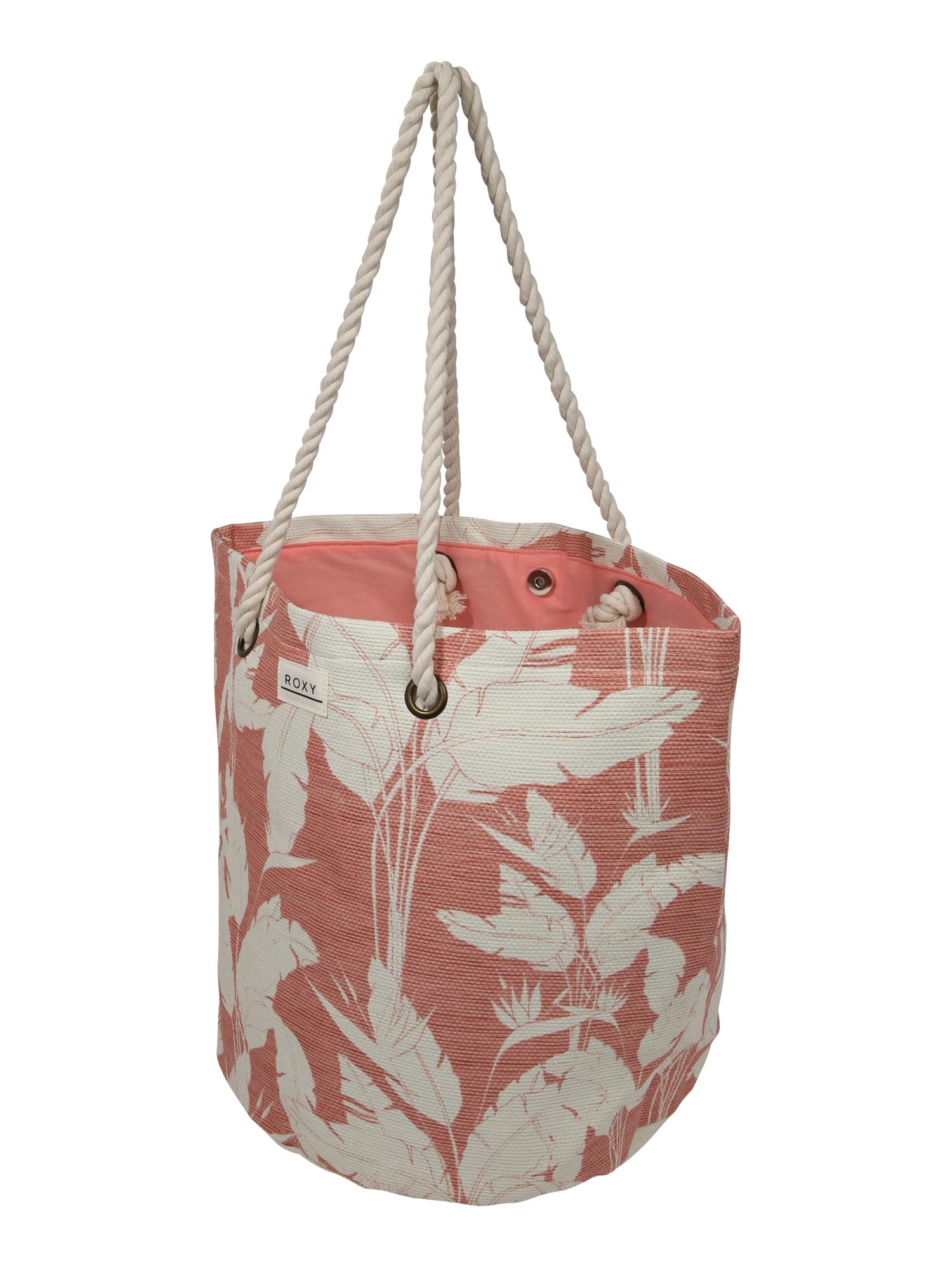 ROXY Paplūdimio krepšys 'SUNSEEKER J TOTE' rožių spalva / balta