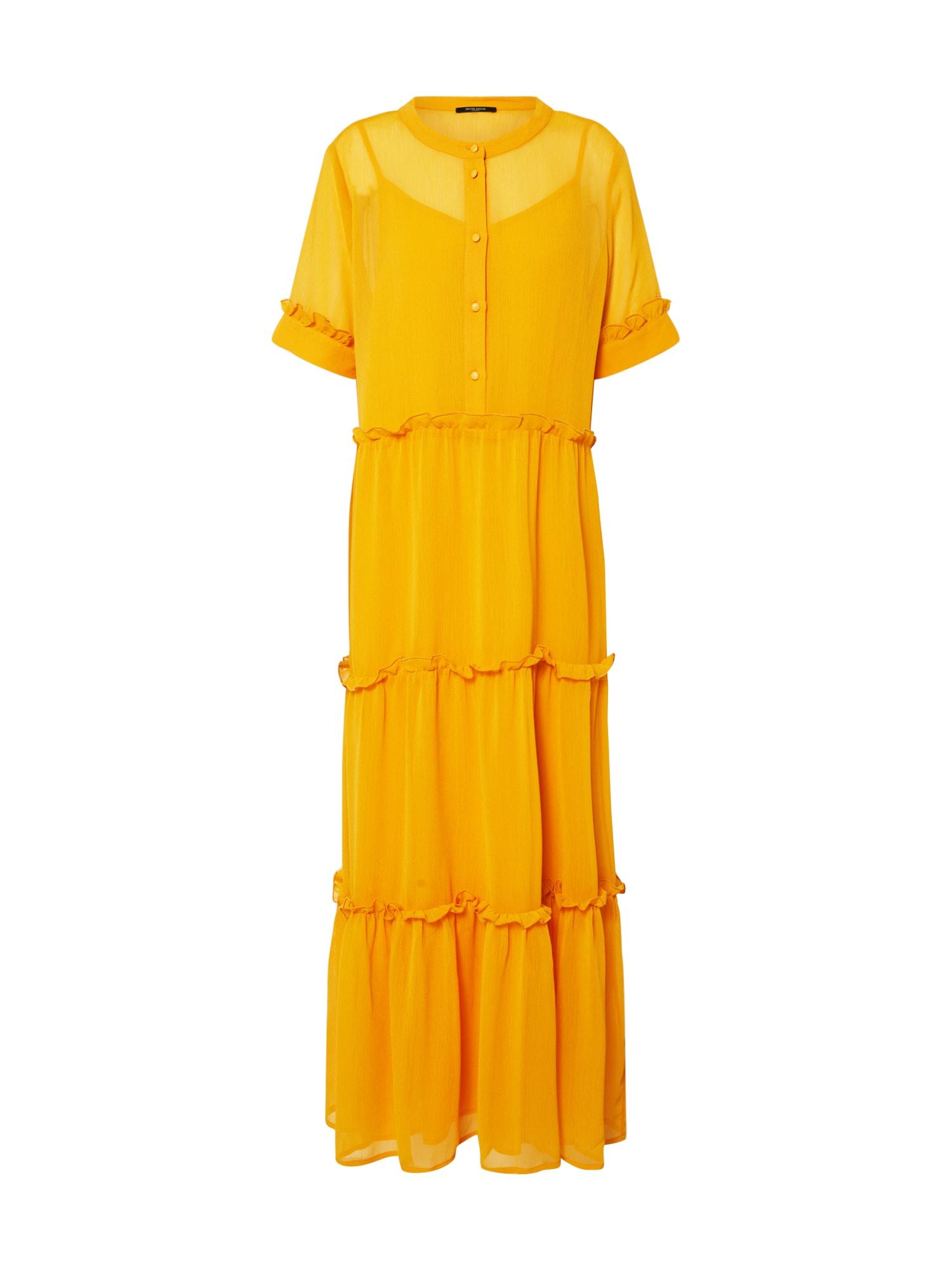 BRUUNS BAZAAR Palaidinės tipo suknelė 'Marie Silje dress' geltona