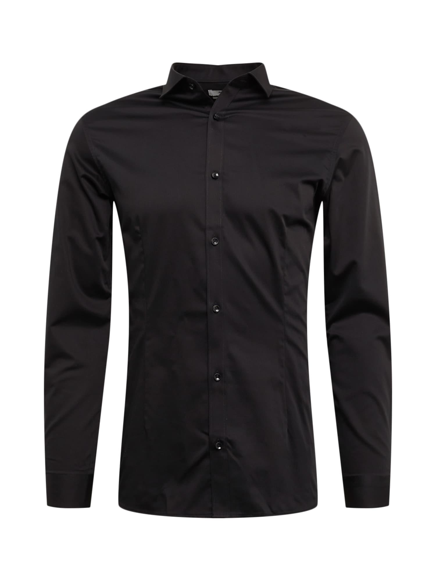 JACK & JONES Dalykinio stiliaus marškiniai juoda