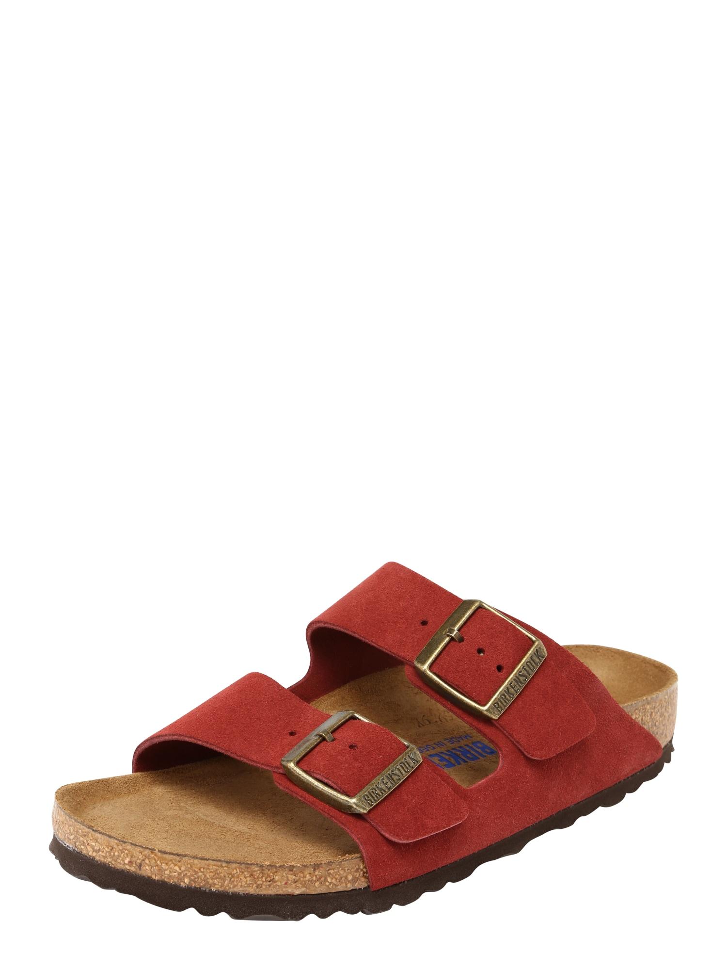 Pantofle Arizona rezavě hnědá červená BIRKENSTOCK