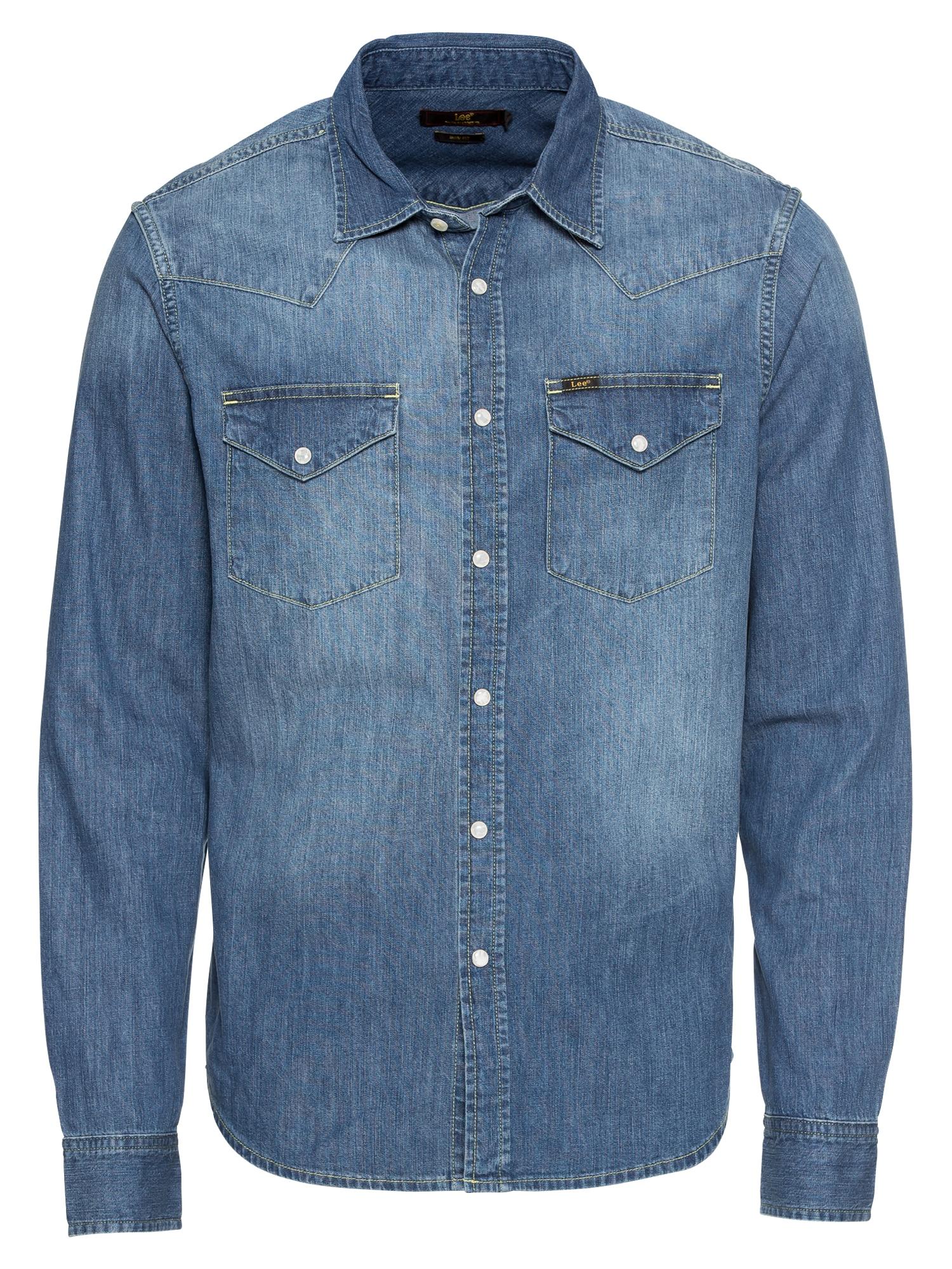 Lee Dalykiniai marškiniai 'WESTERN' tamsiai (džinso) mėlyna