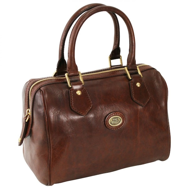 Handtaschen - Leder Henkeltasche 'Story Donna' › The Bridge › braun  - Onlineshop ABOUT YOU